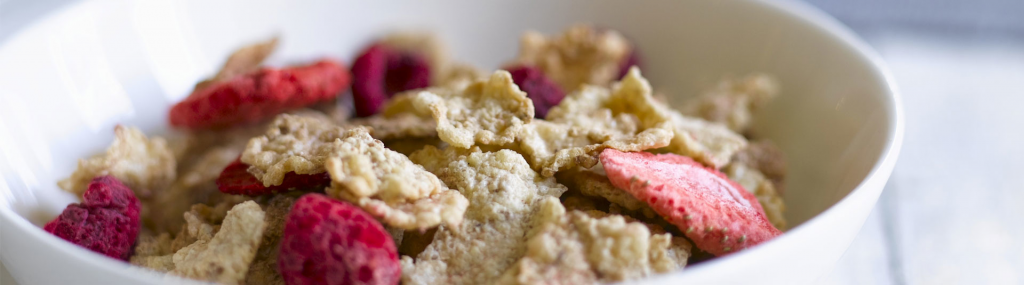 Freeze dried fruit in cereals