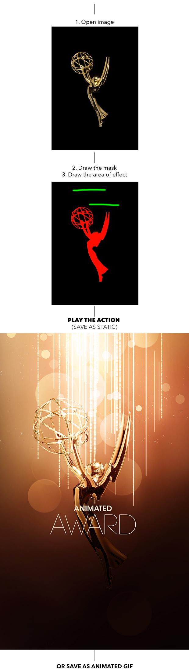 Gif Animated Award Effect Photoshop Action - 1
