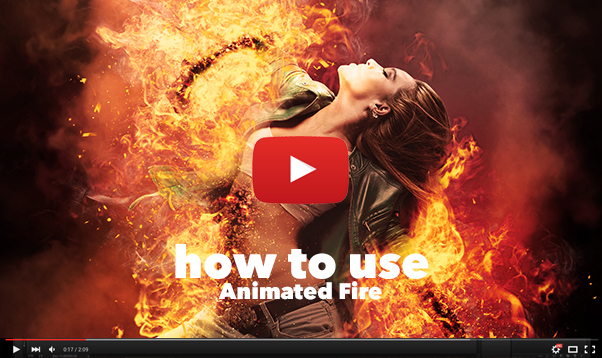 Gif Animated Fire Photoshop Action - 24