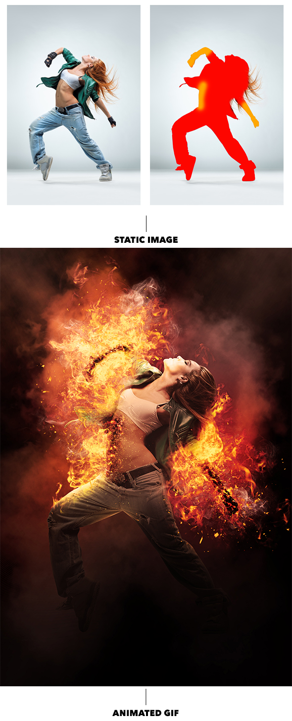 Gif Animated Fire Photoshop Action - 7