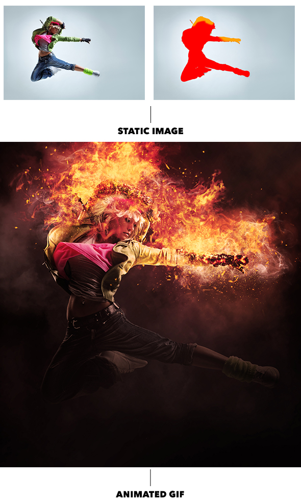 Gif Animated Fire Photoshop Action - 11