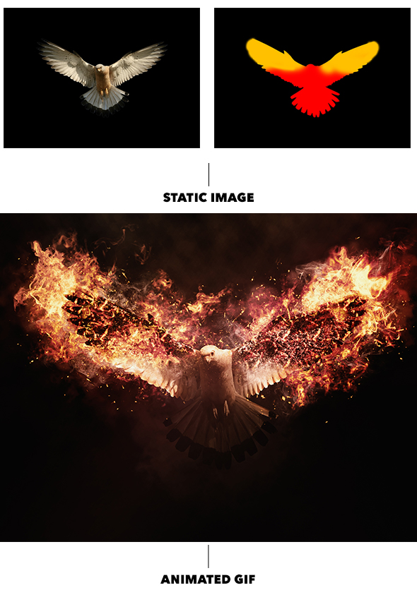 Gif Animated Fire Photoshop Action - 13