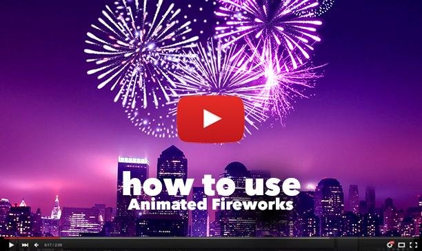 Gif Animated Fireworks Photoshop Action - 26