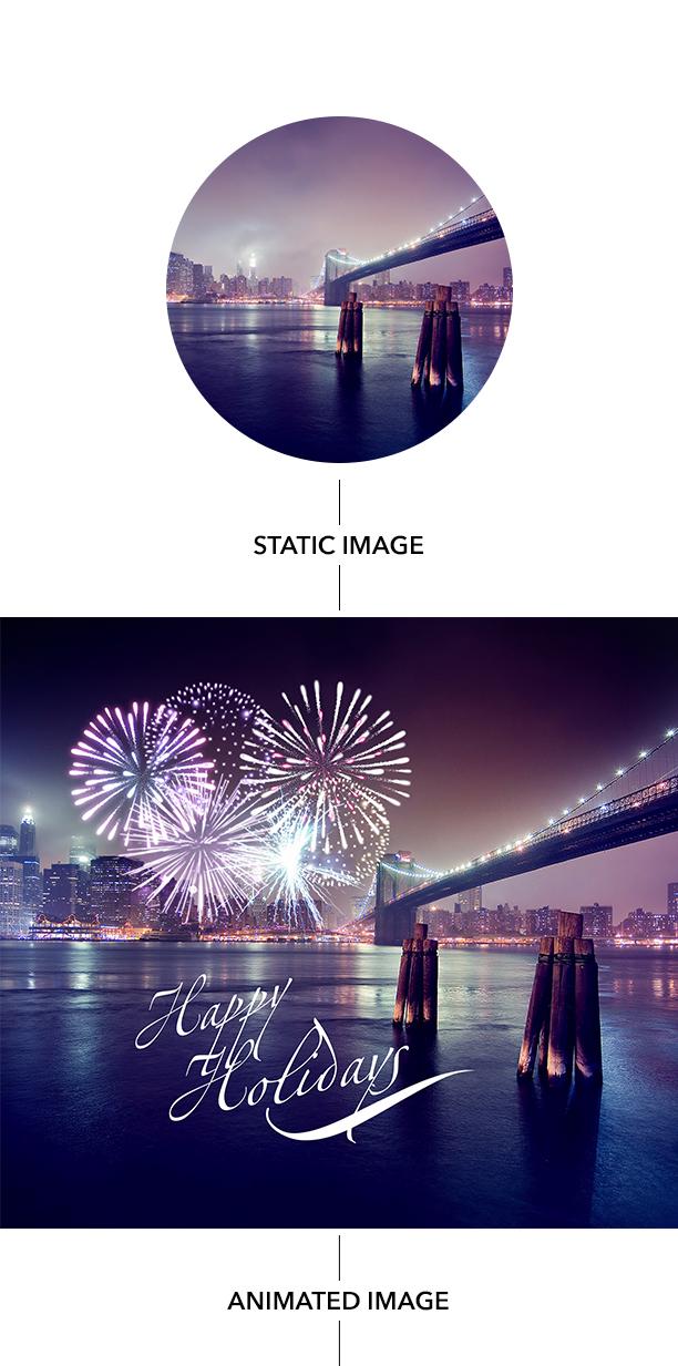 Gif Animated Fireworks Photoshop Action - 5