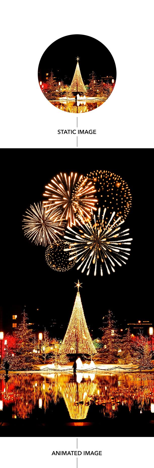 Gif Animated Fireworks Photoshop Action - 10