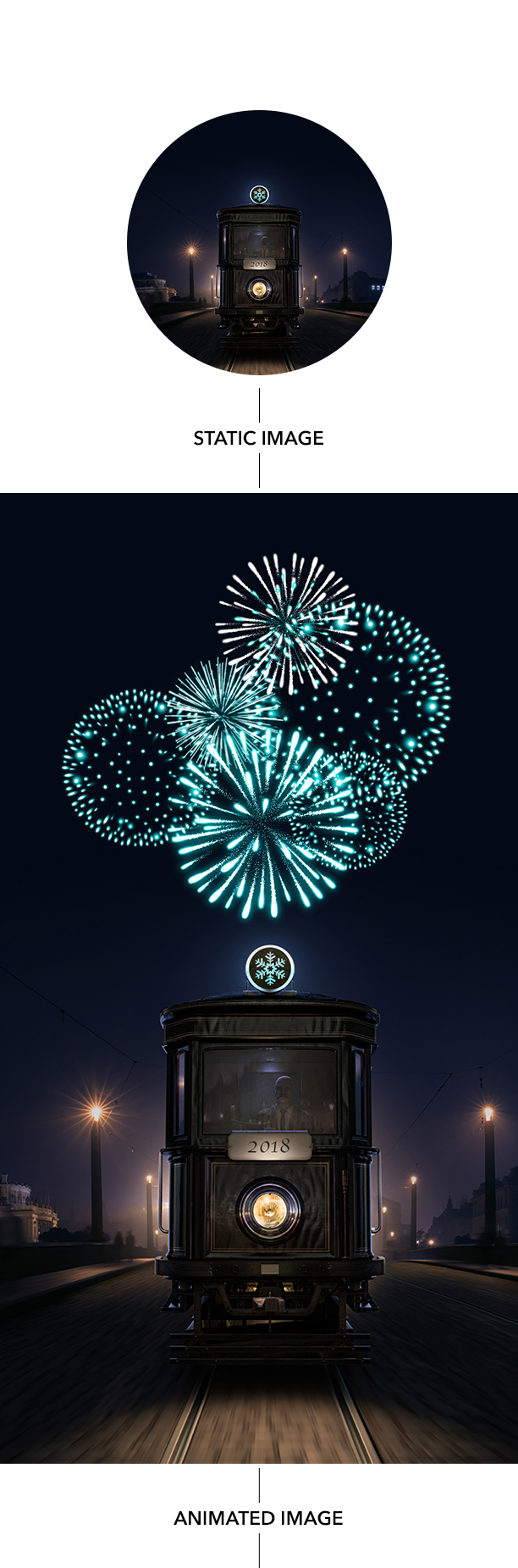 Gif Animated Fireworks Photoshop Action - 12