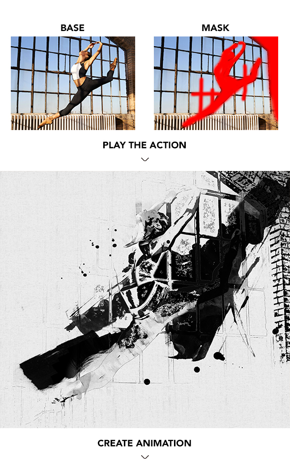 Gif Animated Watercolor and Ink Effect Photoshop Action - 5