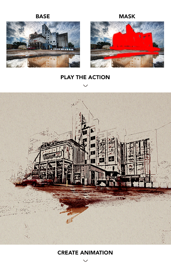Gif Animated Watercolor and Ink Effect Photoshop Action - 7
