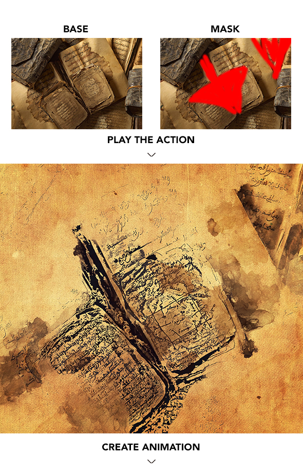 Gif Animated Watercolor and Ink Effect Photoshop Action - 9