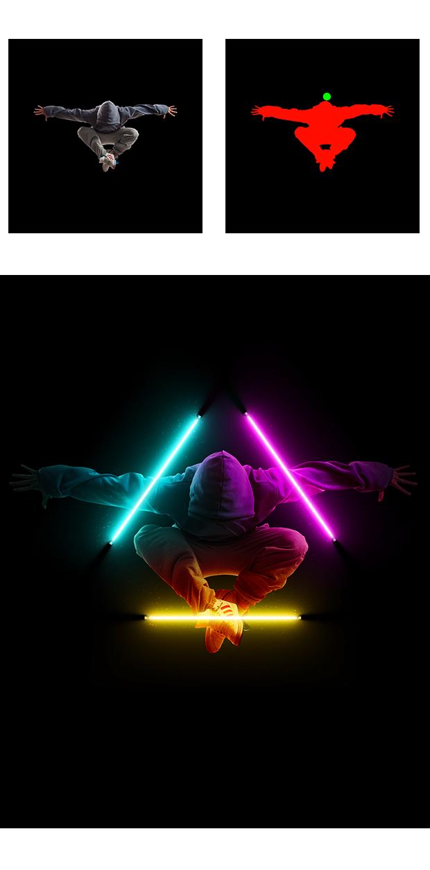 Gif Animated Neon Light Photoshop Action - 9