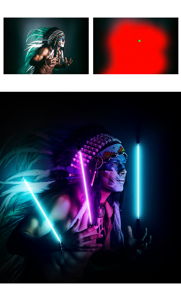 Gif Animated Neon Light Photoshop Action - 11