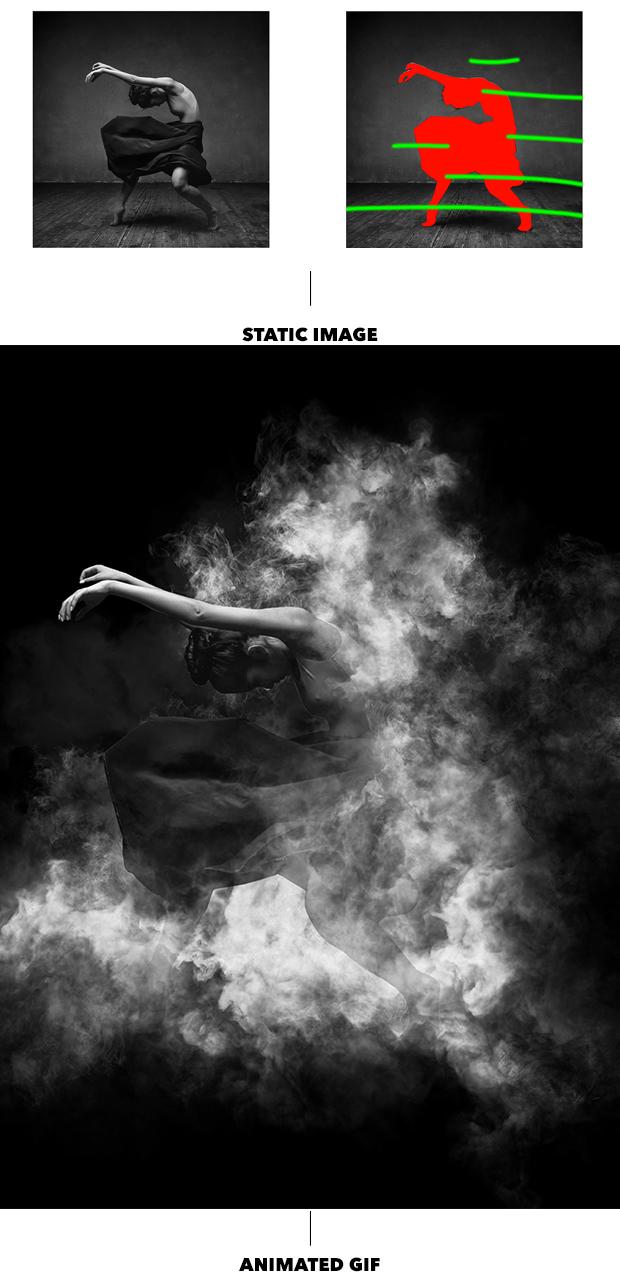 Gif Animated Smoke Photoshop Action - 12