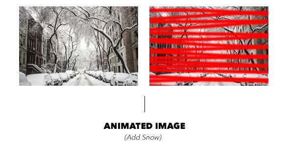 Gif Animated Snow Photoshop Action - 22