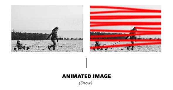 Gif Animated Snow Photoshop Action - 24