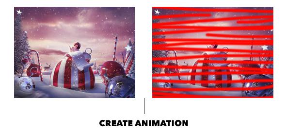Gif Animated Snow Photoshop Action - 30