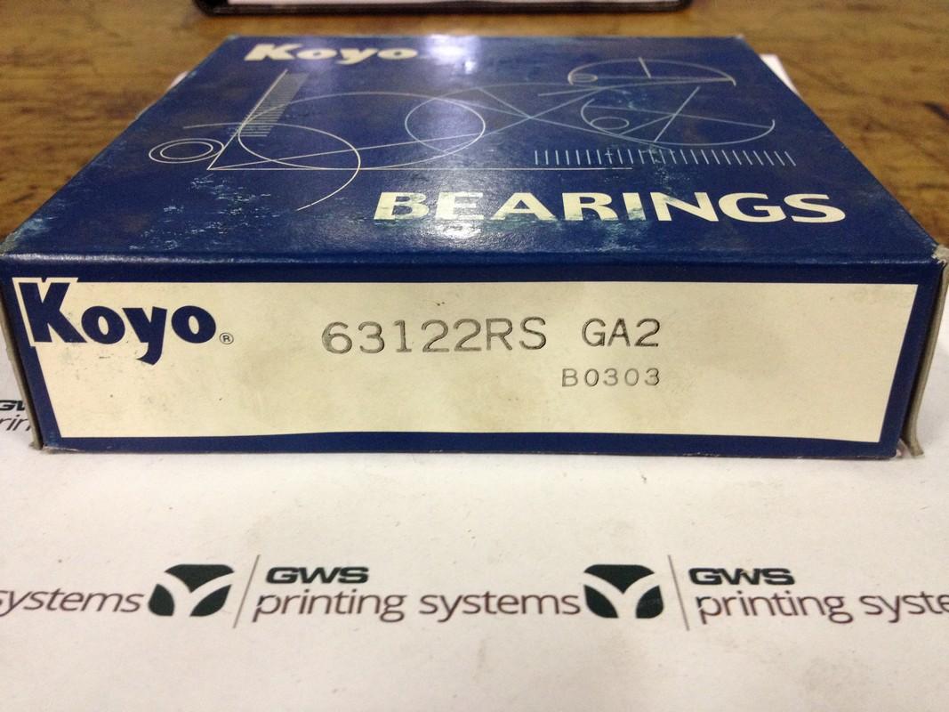 Graphic Web Parts - 63122RS Koyo bearing for Goss Universal