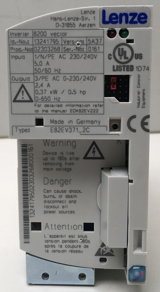 Graphic Web Parts - E82EV371K2C Lenze frequency inverter