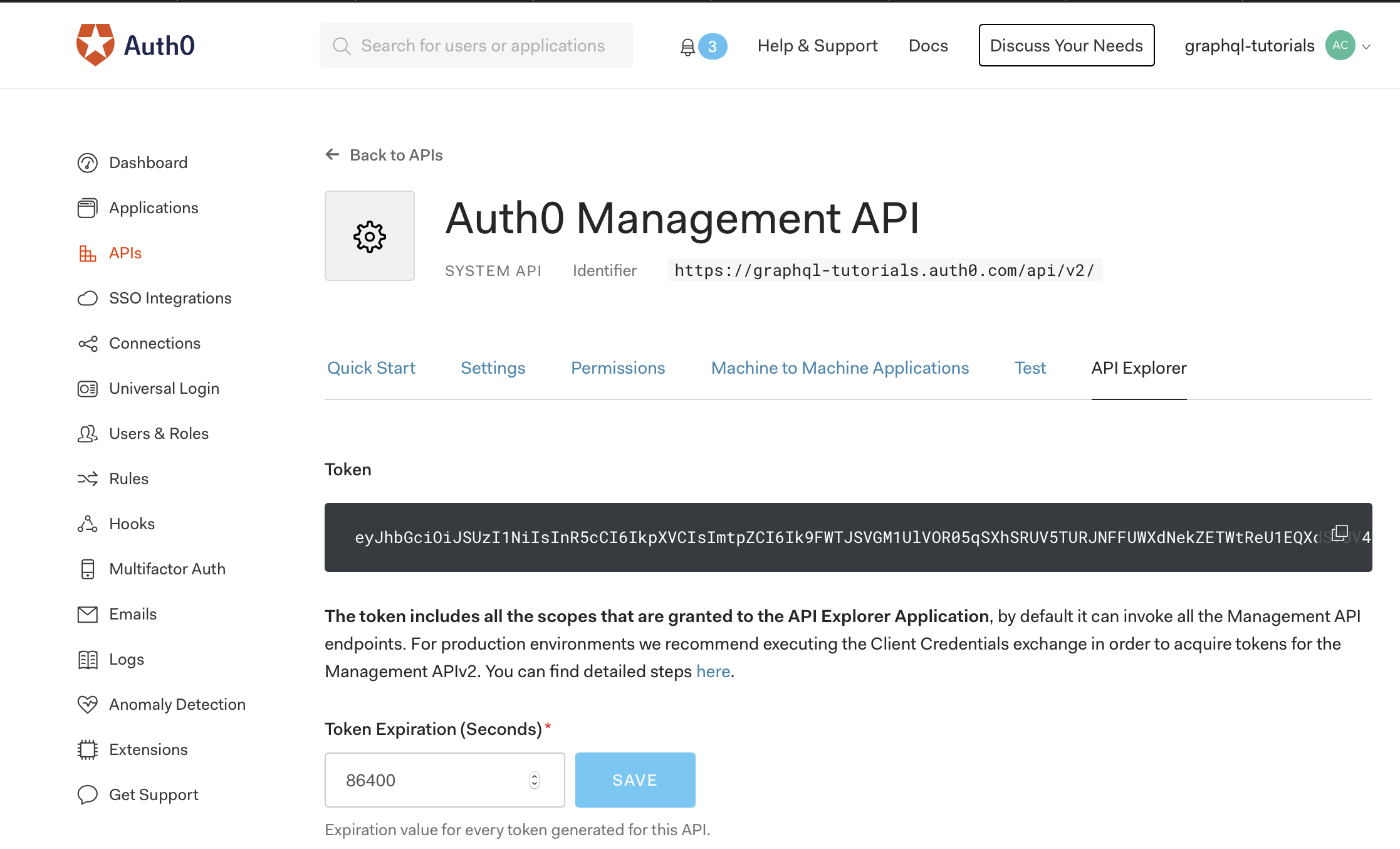 Auth0 Management API