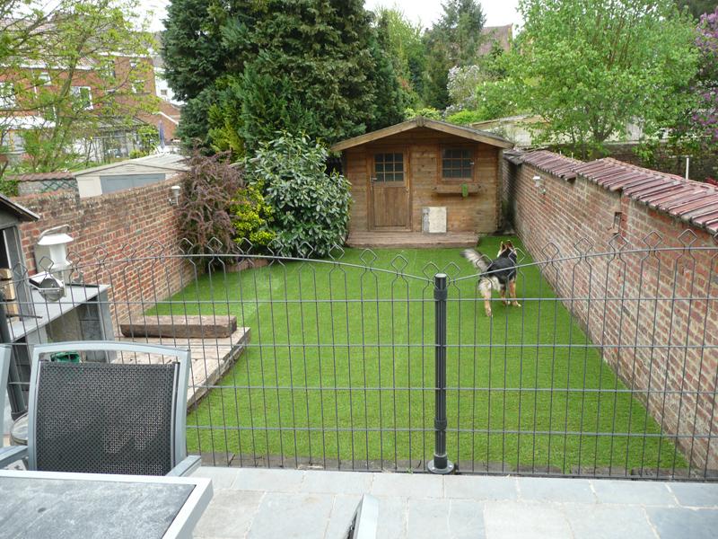 Realisation D Un Petit Jardin En Gazon Synthetique Greenside Blog