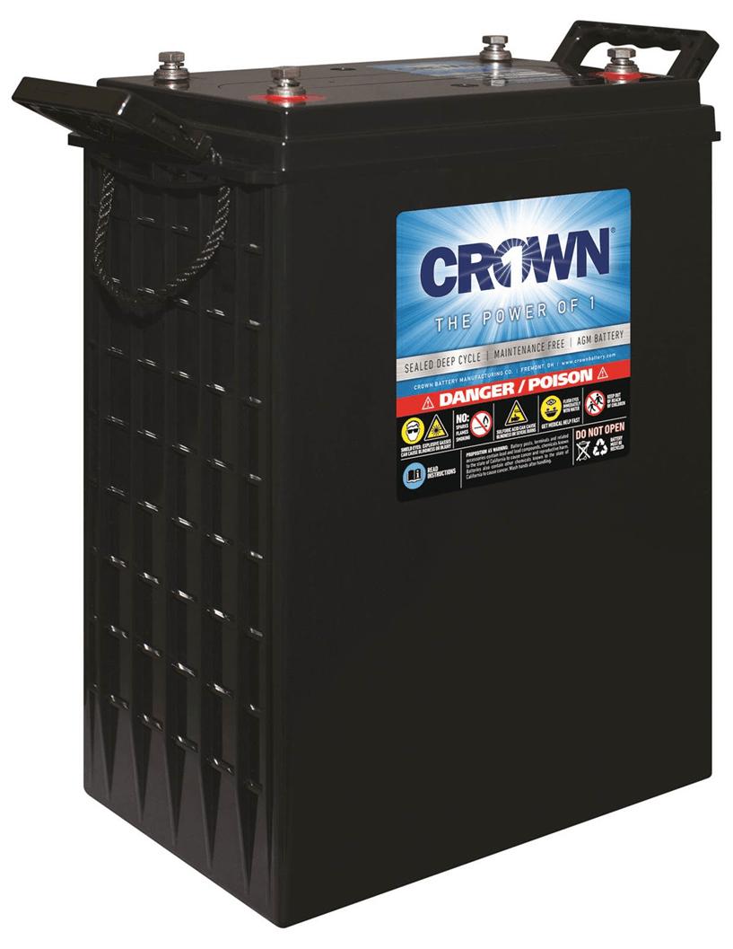 Crown 2CRV1200 AGM 2-volt Battery