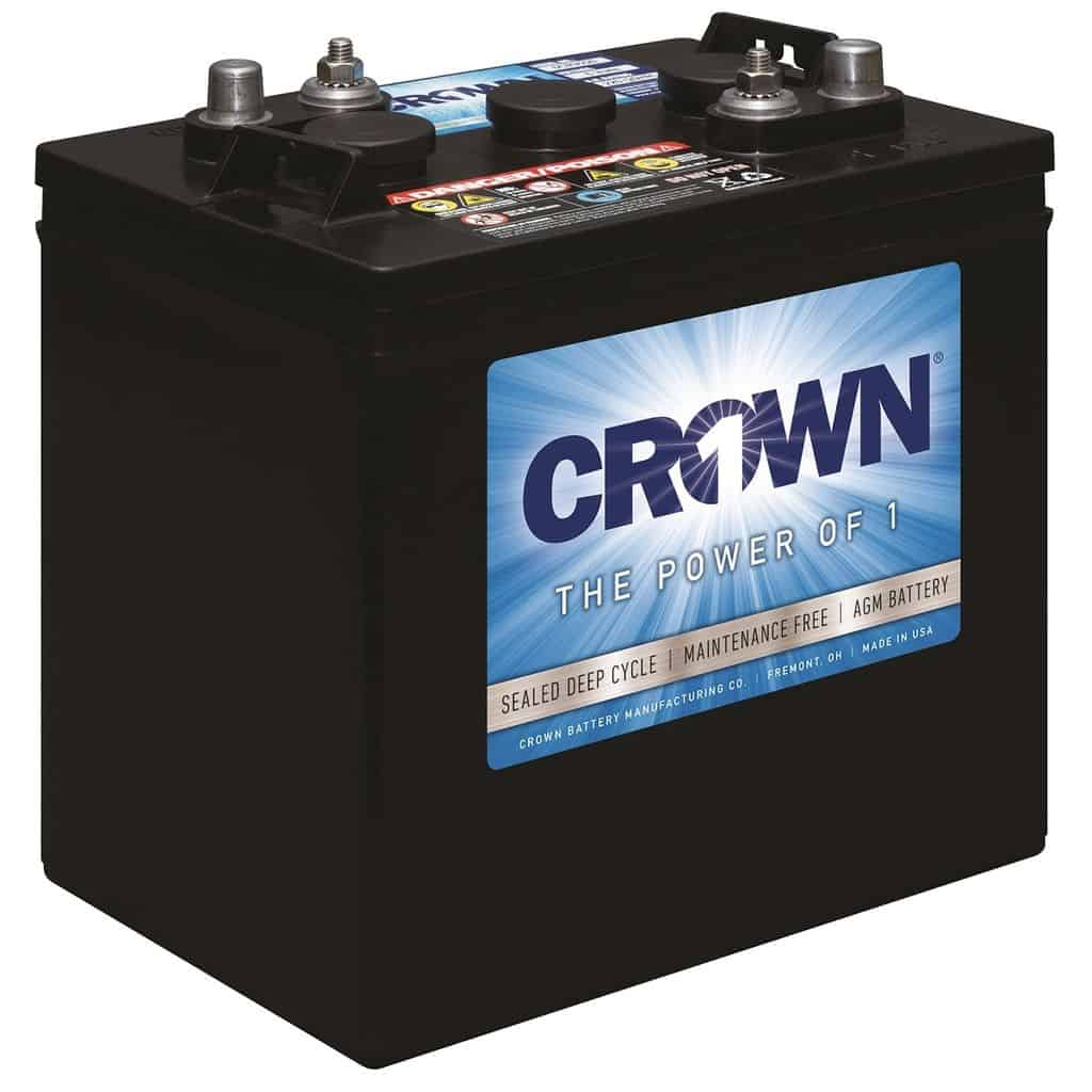 Crown AGM 220 Ah 24 VDC 5,280 Wh (4) Battery Bank
