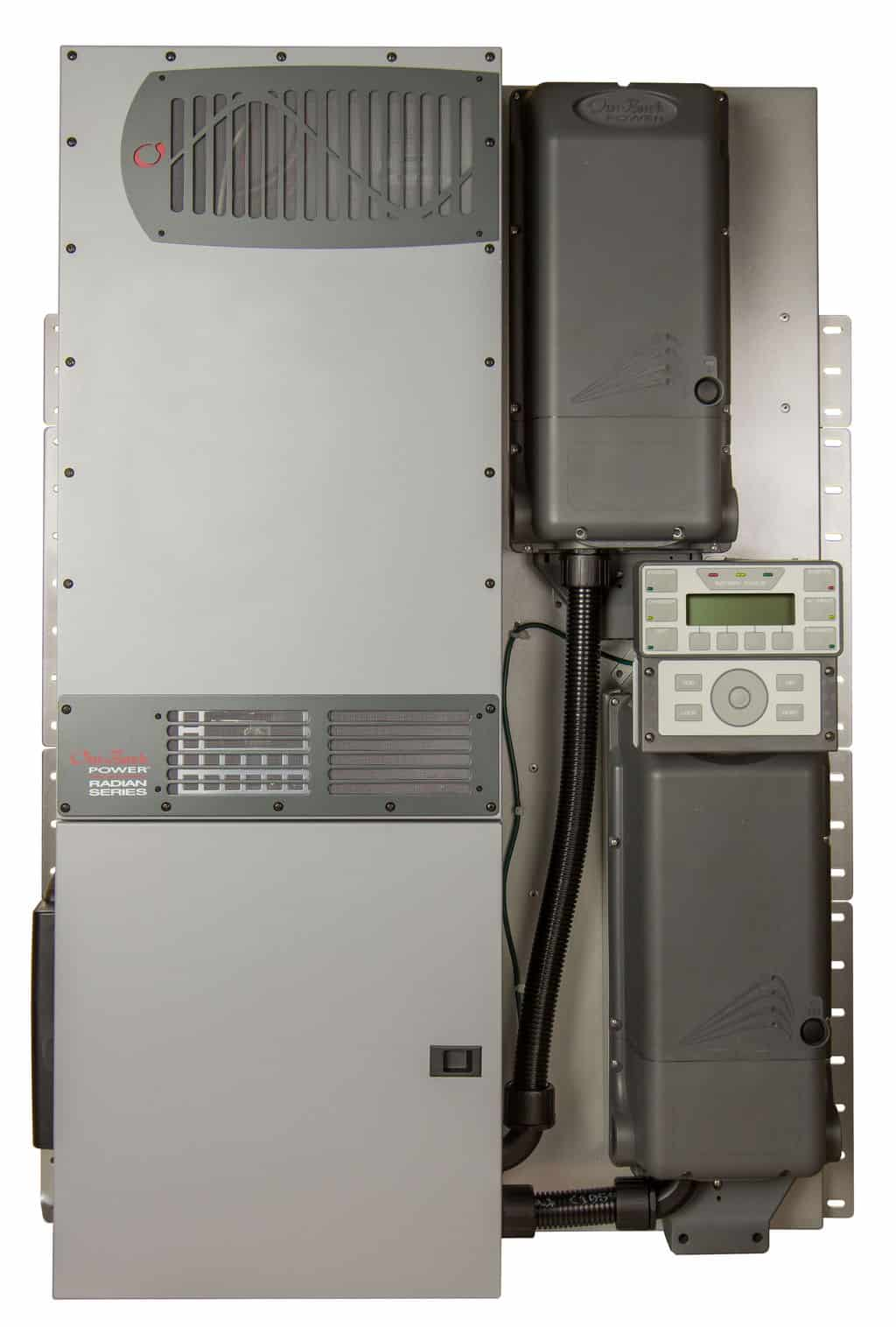 OutBack Power Systems: Outback, FLEXpower Radian, GS8048A-01, 8.0kW, 120/240Vac, Prewired GSLC, with 120/240 AC bypass.