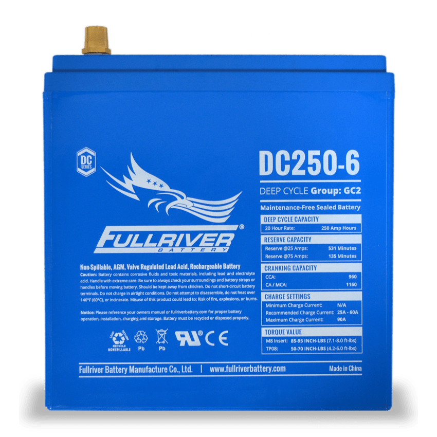 Fullriver AGM 250 Ah 24VDC 6000 Wh (4) Battery Bank