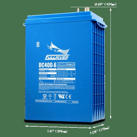 Fullriver AGM 415 Ah 24 VDC 9,960 Wh (4) Battery Bank