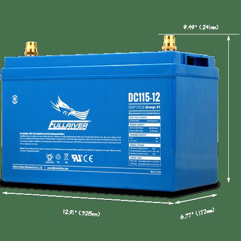 Fullriver DC115-12 AGM Sealed 12v 115Ah Battery