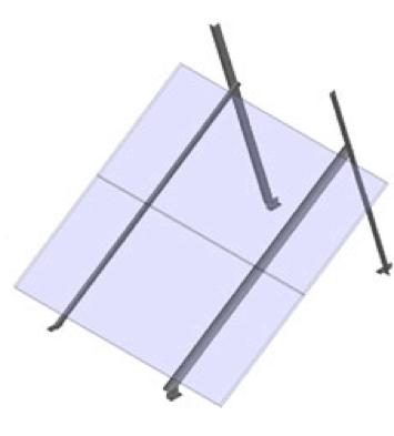 General Specialties S-Rail - 2 Module Ground Mount (size D module)