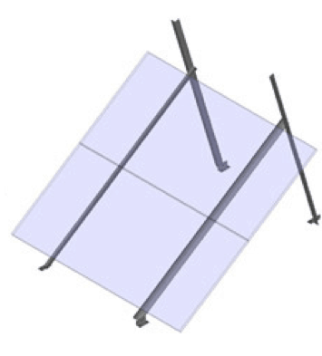 General Specialties S-Rails XL - 4 Module Ground Mount