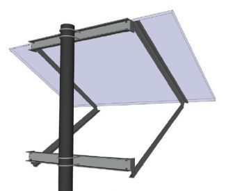 General Specialties SOP-K Side of Pole Mount (for Panel Sizes: A, B)