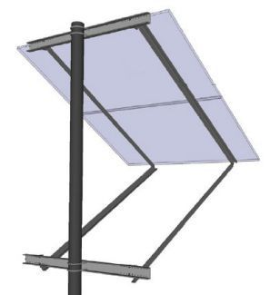 General Specialties SOP-S Side of Pole Mount (for Panel Sizes: A)