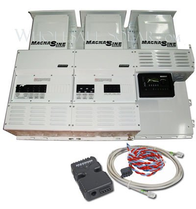 Magnum Triple MS4024PAE w/ no Charge Controllers Power Center