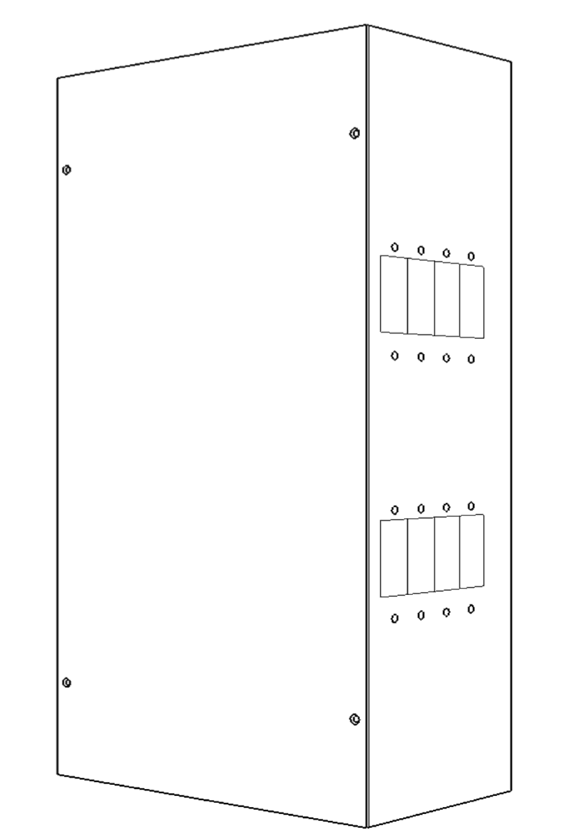 Medium Breaker Box for 8 panel mount breakers