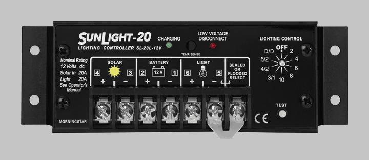 Morningstar Corporation SunLight SL-20L-12V Charge Controller