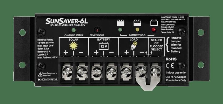 Morningstar Corporation SunSaver SS-6L-12V Charge Controller