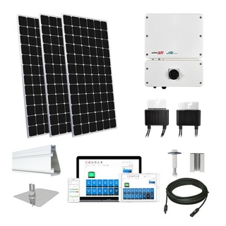 10.1kW solar kit Mission 375 XL, SolarEdge HD optimizers