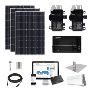 10.2 kW Solar Kit Tesla 330, Enphase IQ7X