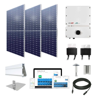 10.4kW solar kit Axitec 385 XL, SolarEdge optimizers