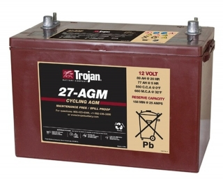 1.1 kWh Trojan 12V Sealed AGM Battery 27-AGM