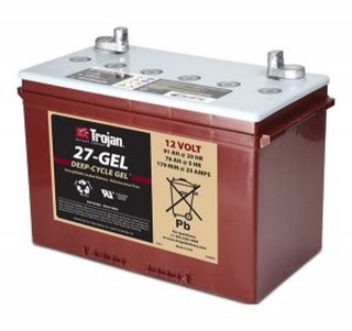 1.1 kWh Trojan 12V Sealed Gel Battery 27-Gel