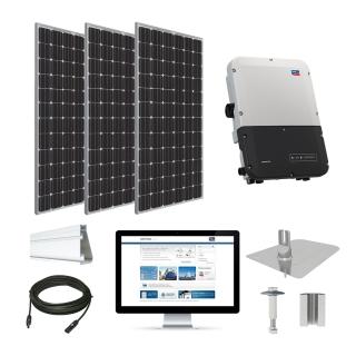 11.1kW solar kit Trina 370 XL, SMA inverter