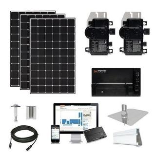 11.3kW solar kit CSUN 390 XL, Enphase micros