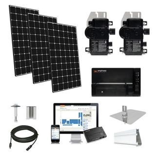 12.1kW solar kit LG 370, Enphase micro-inverters