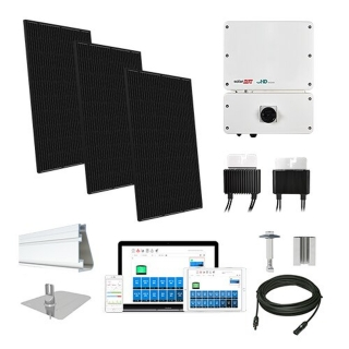 12.1kW solar kit Q.Cells 320, SolarEdge HD optimizers