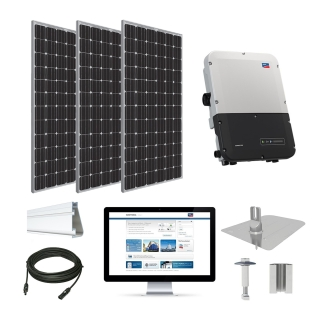 12.2kW solar kit Trina 370 XL, SMA inverter