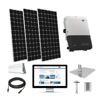 12.4kW solar kit CSUN 390 XL, SMA Sunny Boy