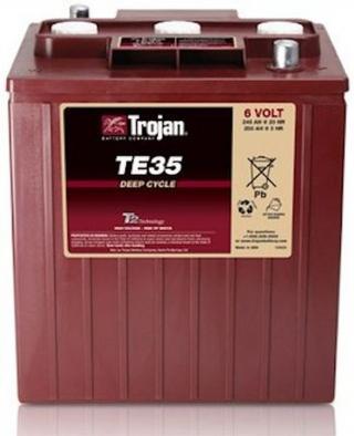 1.3 Trojan 6V Sealed Gel Battery TE35-GEL