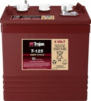 1.4 kWh Trojan 6V Flooded Battery T-125